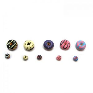 ceramic beads large and small donuts all flavours