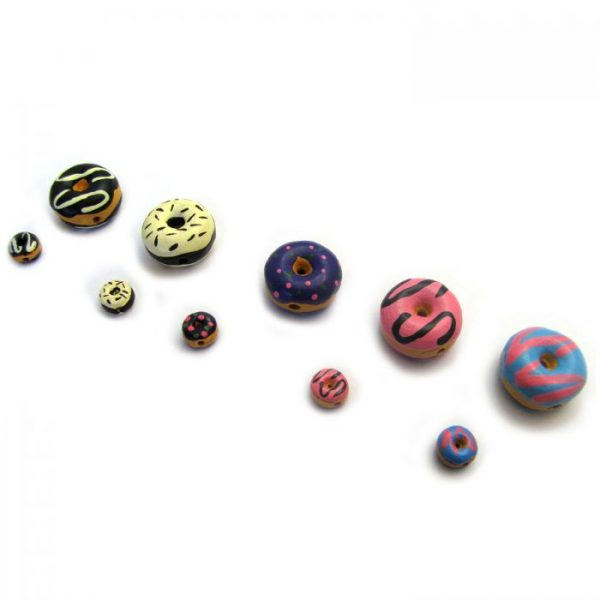 ceramic beads large and small donuts