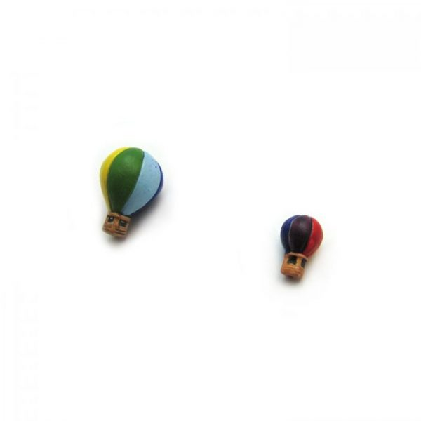 ceramic beads large and small hot air balloon angled view