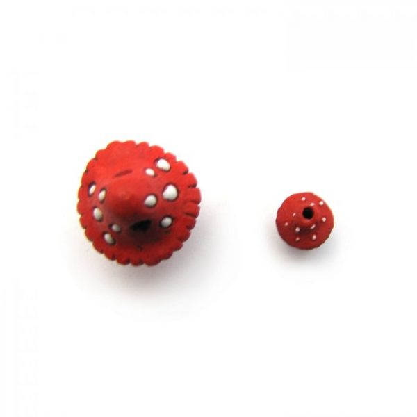 ceramic beads large and small mushroom top view