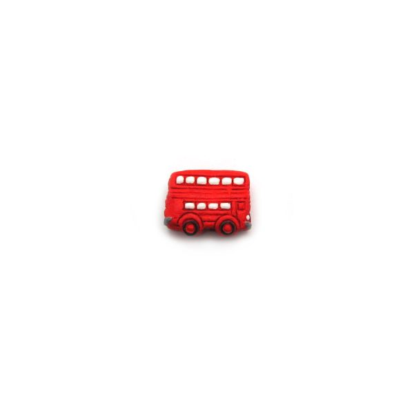 ceramic beads large london bus side view
