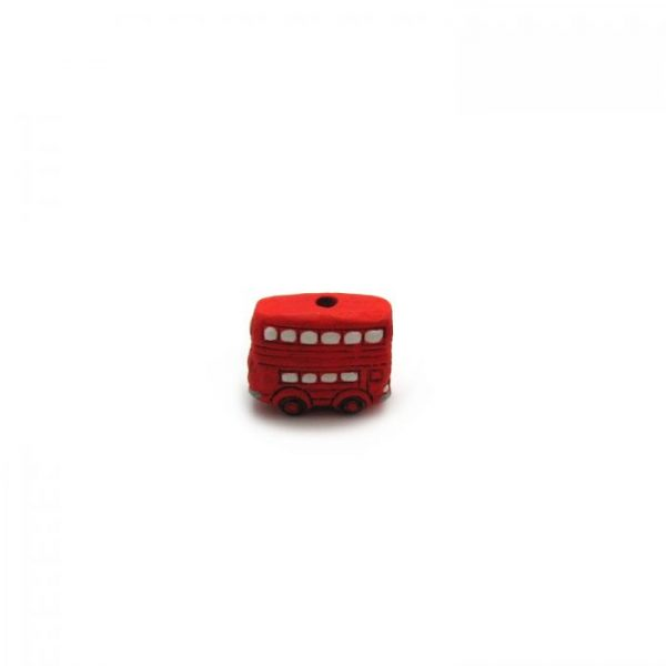 ceramic beads large london bus side view of bead hole