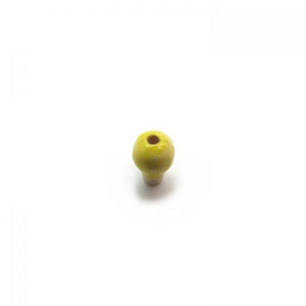 ceramic beads small light bulb top view of bead hole