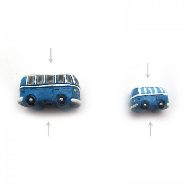 ceramic animal beads large and small - VW Bus
