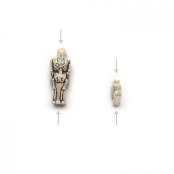 ceramic animal beads large and small - skeleton