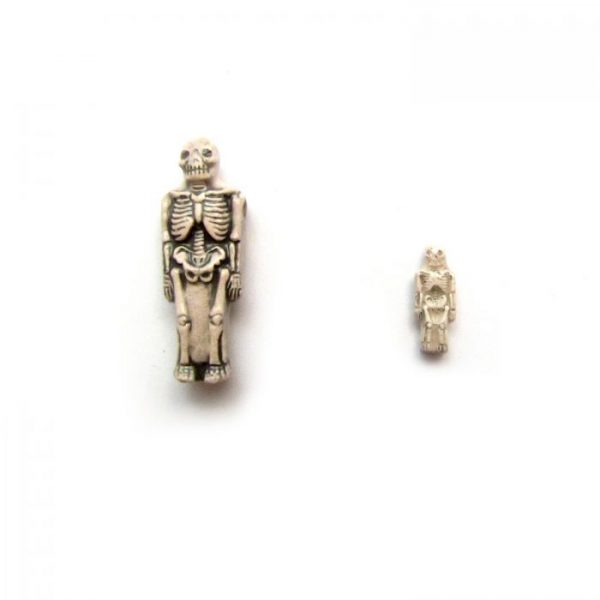 ceramic animal beads large and small - skeleton front