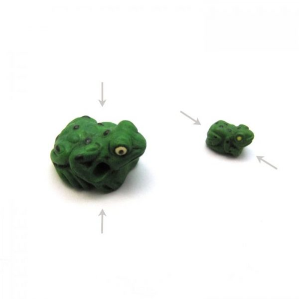 ceramic animal beads large and small - spotted frog