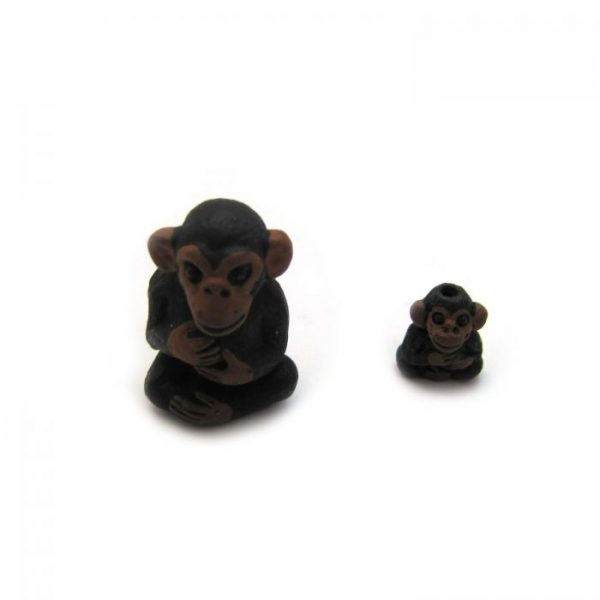 chimp large and small ceramic beads