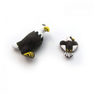eagle ceramic beads large and small