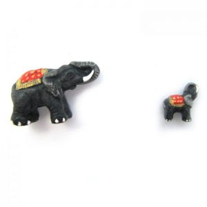 elephant with rug ceramic beads large and small