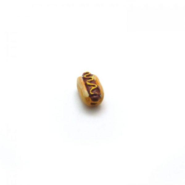hot dog ceramic animal bead small
