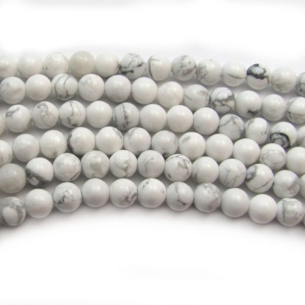 howlite smooth rounds 1