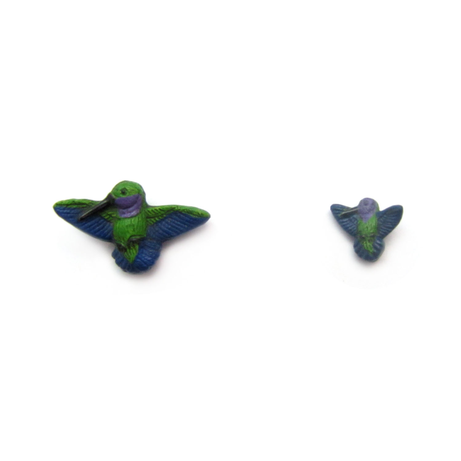 humming bird large and small ceramic beads