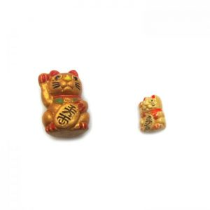 lucky cat large and small ceramic beads