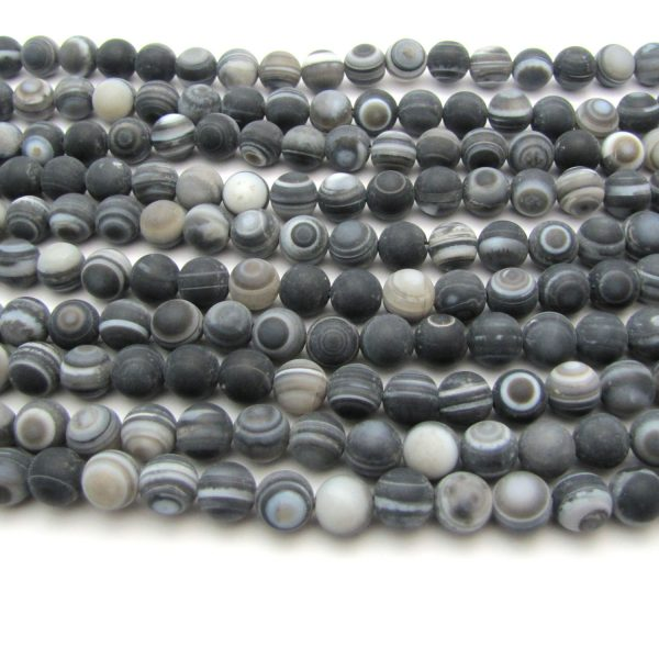 matte banded agate smooth rounds