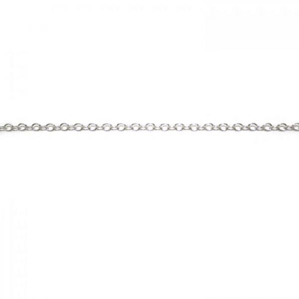 oval chain 1813 base metal silver plated length