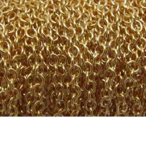 oval link base metal chain gold plated 2214X