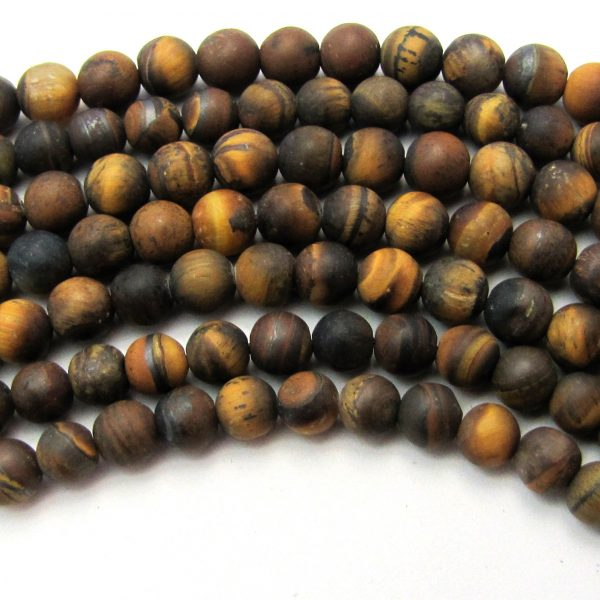 tigers eye matte smooth rounds cover image