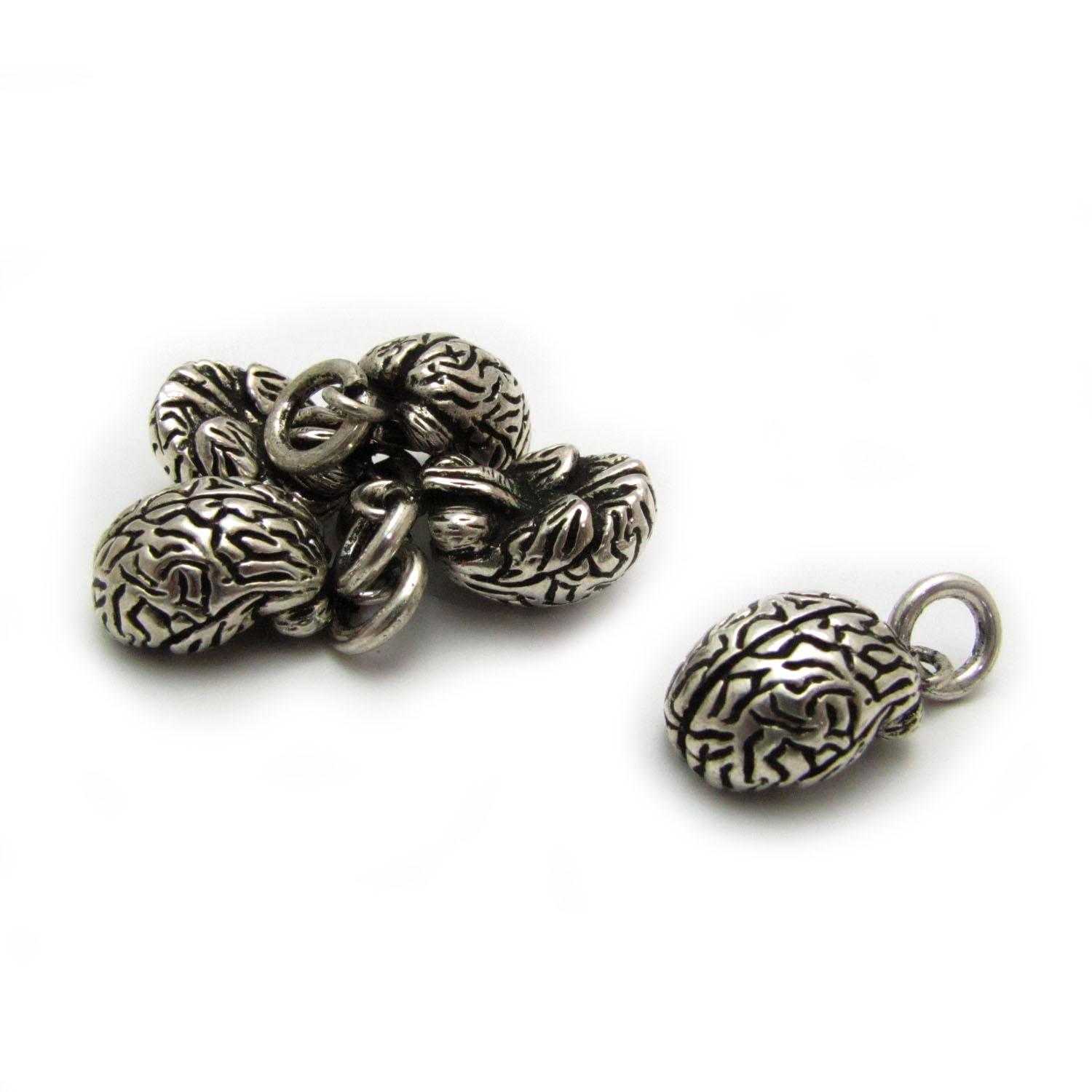 Brain base metal silver plated