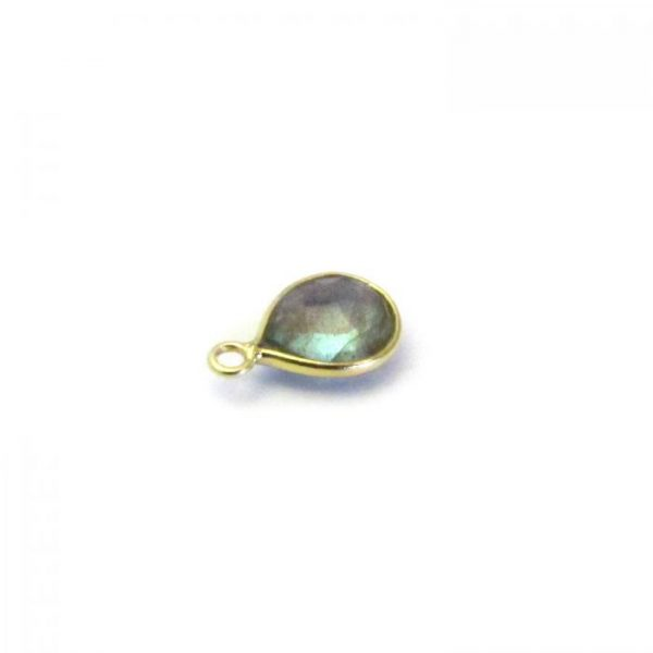 Labradorite Gold Edged single drop