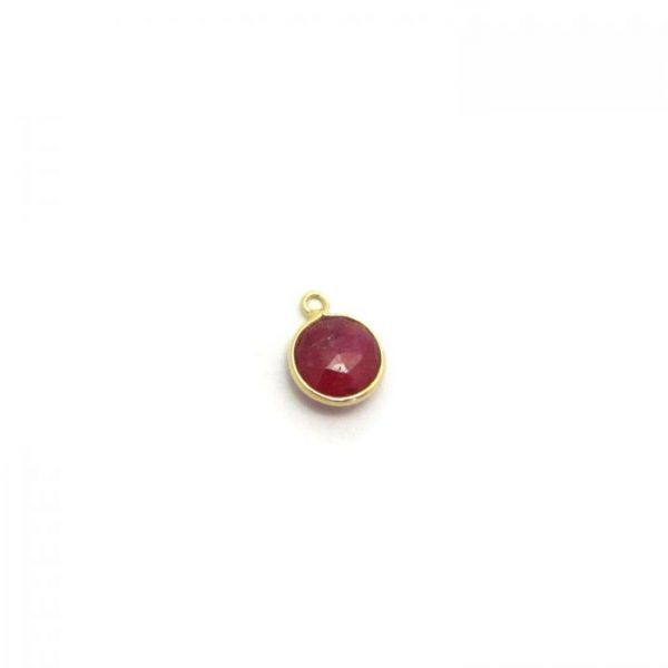 Gold Edged Ruby round single