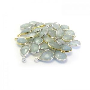Aquamarine Mixed Gold & Silver