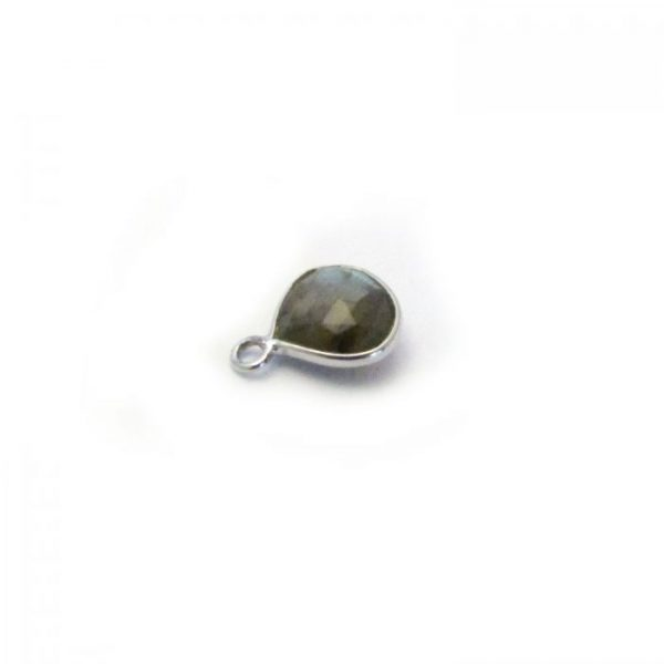 Labradorite Silver Edged single drop