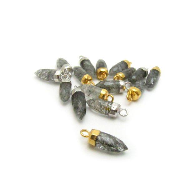 Tourmalated Quartz – Stone point with loop group