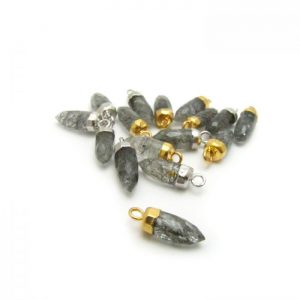 Tourmalated Quartz - Stone point with loop