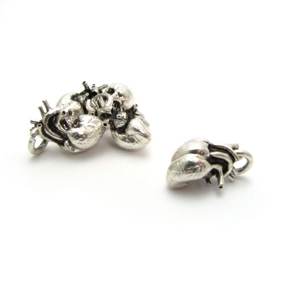 anatomical heart silver plated group