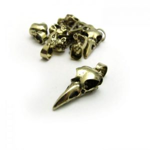 bird skull small gold