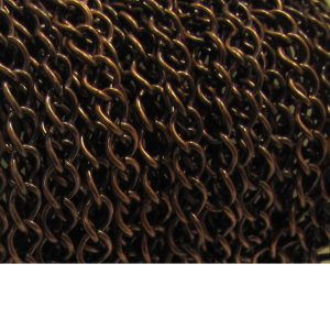 curb chain ch 6 antique copper spool