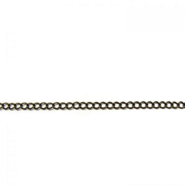 curb chain ch 6 brass oxidized length