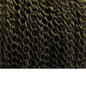 curb chain ch 6 brass oxidized spool