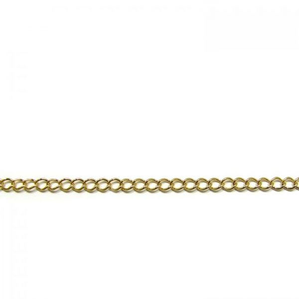 curb chain ch 6 gold plated length