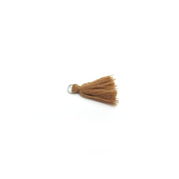 3cm cotton tassel with jump ring – lt bwn