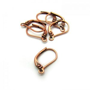 Base metal copper plated leverbacks