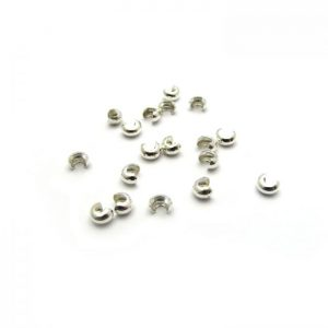 Crimp Covers 4mm Sterling Silver