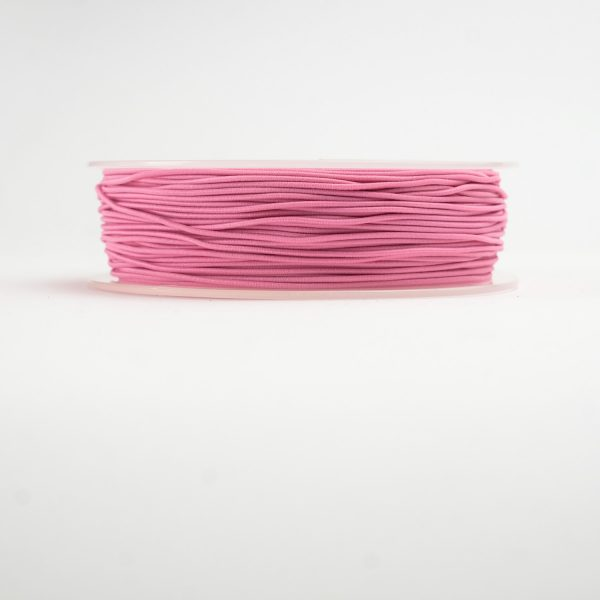 material covered elastic pink