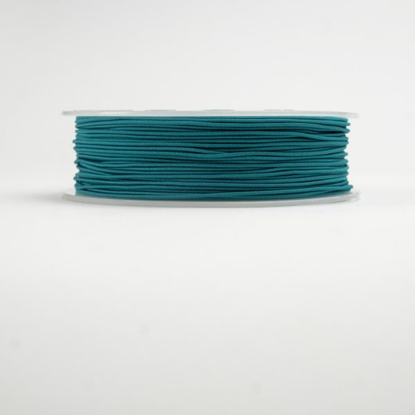 material covered elastic teal