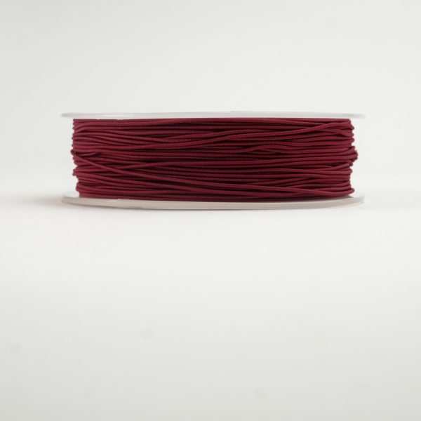 material covered elastic maroon