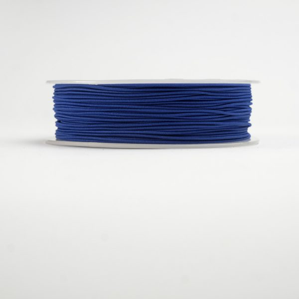 material covered elastic blue