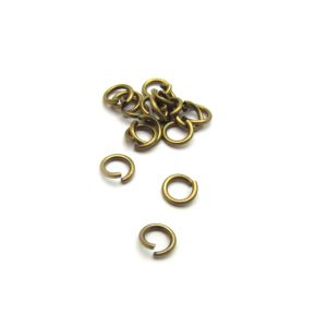 base metal antique gold plated jump ring2