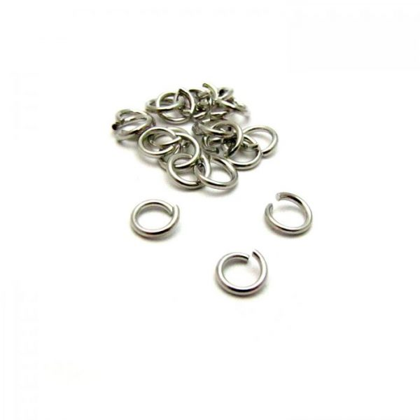 base metal antique silver plated jump ring