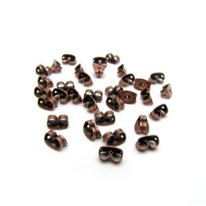 butterfly base metal earring backs copper plated