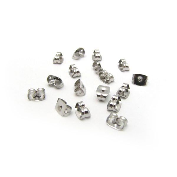 base metal earring backs stainless steel