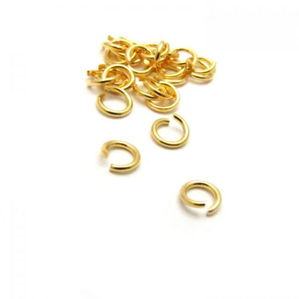 base metal gold plated jump ring