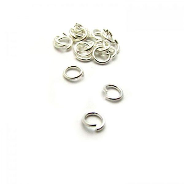 base metal silver plated jump ring