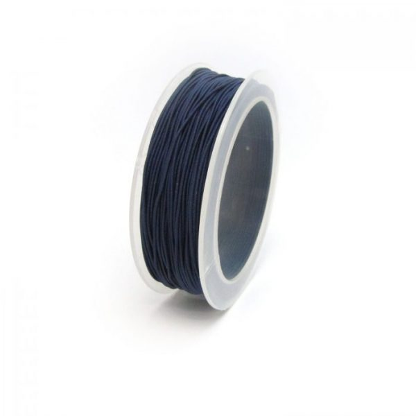 material covered elastic 1mm Navy