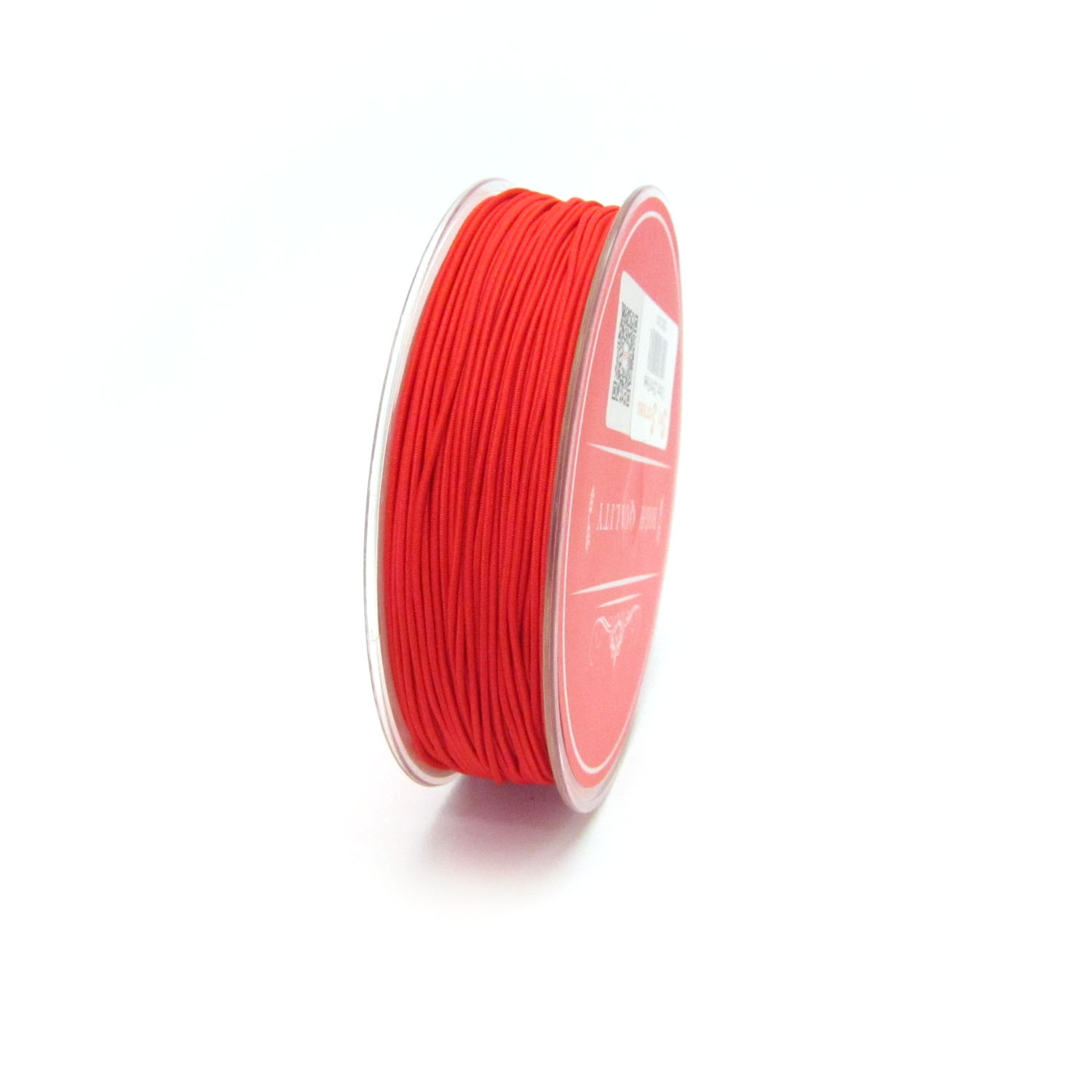 material covered elastic 1mm Red